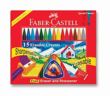 Faber Castell Silinebilir Wax Crayon Mum Boya 15 Renk Renkli